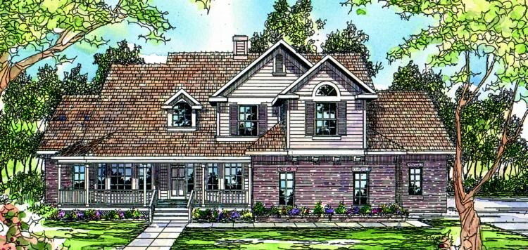 3 Bed, 2 Bath, 2486 Square Foot House Plan - #035-00060