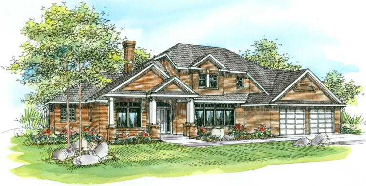 4 Bed, 2 Bath, 2830 Square Foot House Plan - #035-00070
