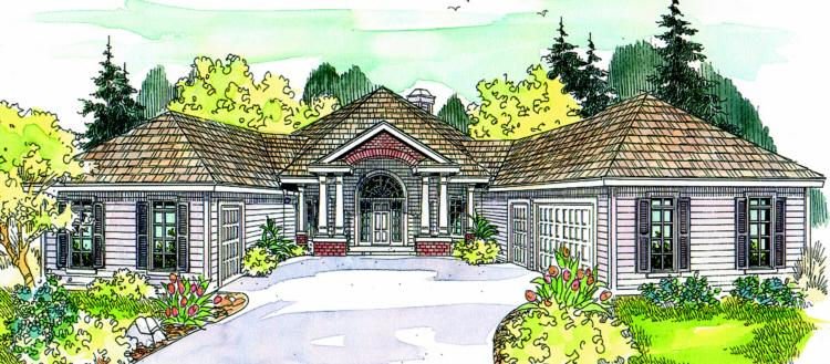 3 Bed, 2 Bath, 2958 Square Foot House Plan - #035-00095