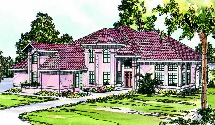4 Bed, 3 Bath, 3881 Square Foot House Plan - #035-00131