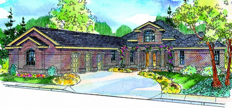 3 Bed, 3 Bath, 3026 Square Foot House Plan - #035-00139