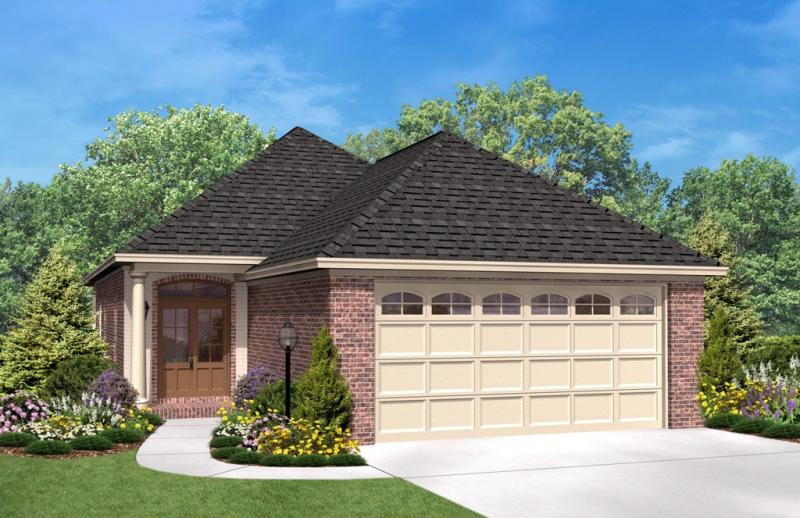 Narrow lot plan 1 400 square feet 3 bedrooms 2 for Narrow lot house plans with front garage