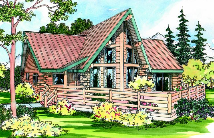 2 Bed, 2 Bath, 1390 Square Foot House Plan - #035-00143