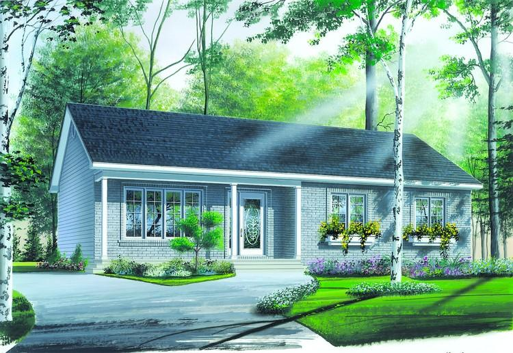3 Bed, 1 Bath, 1180 Square Foot House Plan - #034-00271