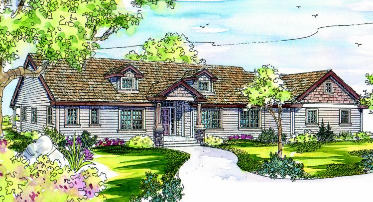 3 Bed, 2 Bath, 2778 Square Foot House Plan - #035-00186