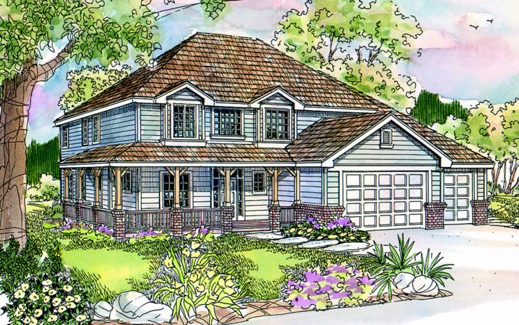 4 Bed, 2 Bath, 2777 Square Foot House Plan - #035-00199