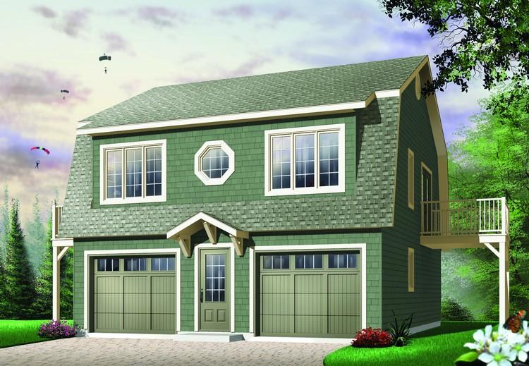 2 Bed, 1 Bath, 992 Square Foot House Plan - #034-00530