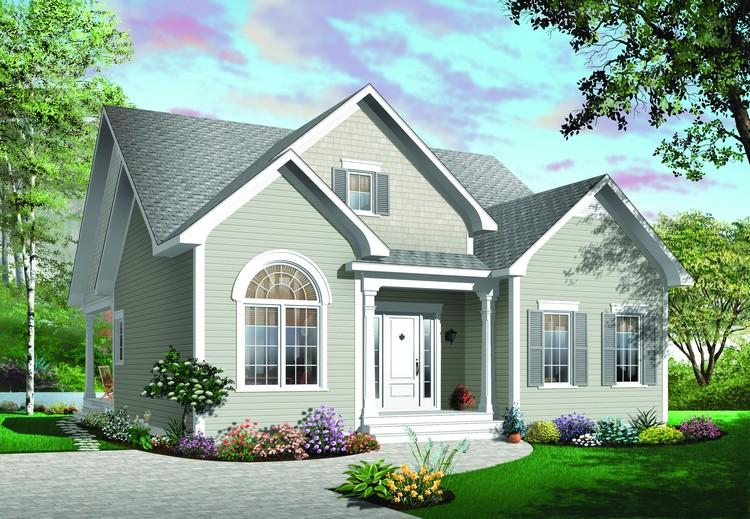 3 Bed, 1 Bath, 1384 Square Foot House Plan - #034-00619
