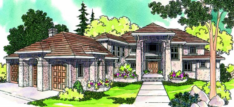 4 Bed, 4 Bath, 4284 Square Foot House Plan - #035-00247