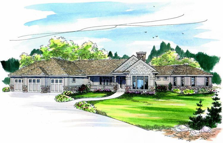 3 Bed, 4 Bath, 3384 Square Foot House Plan - #035-00257