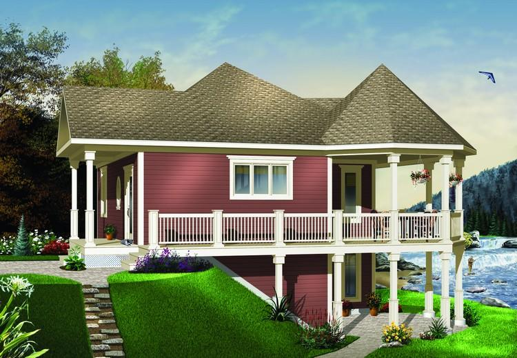 House plans waterfront vacation home homemade ftempo for Vacation home plans waterfront