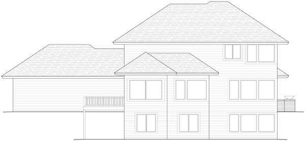 Prairie House Plan #098-00187 Elevation Photo