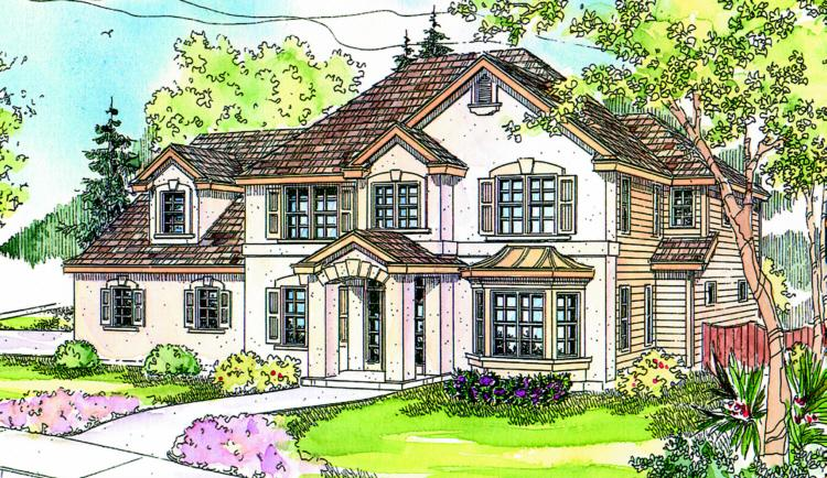 4 Bed, 3 Bath, 2887 Square Foot House Plan - #035-00310