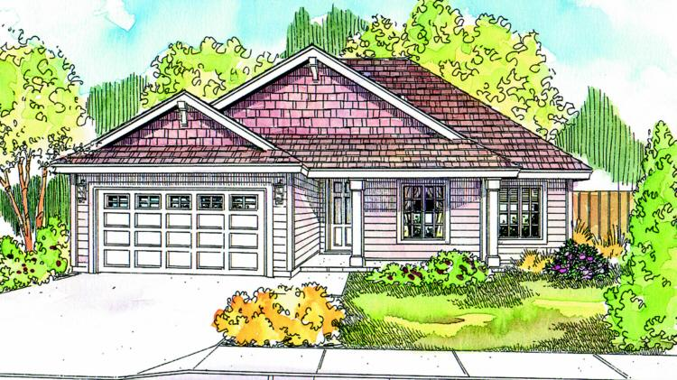 3 Bed, 2 Bath, 1467 Square Foot House Plan - #035-00315