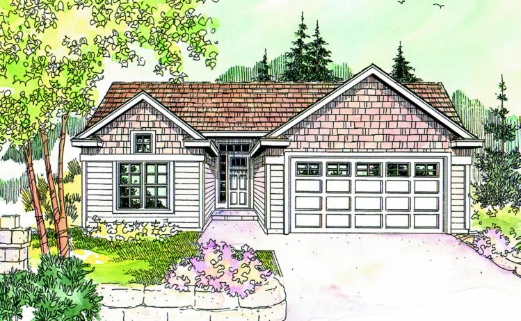 3 Bed, 2 Bath, 1418 Square Foot House Plan - #035-00316