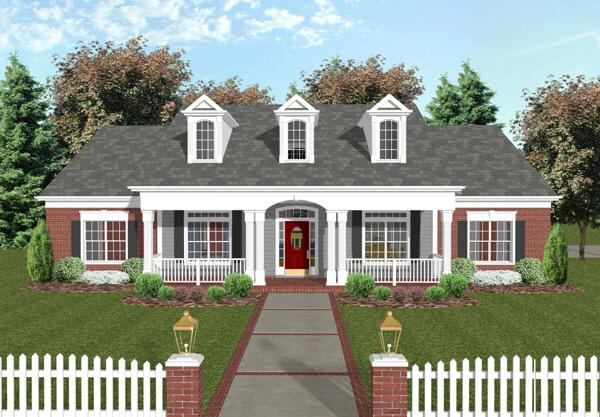 country plan 1992 square feet 4 bedrooms 3 bathrooms 036 00073 - Traditional House Plans