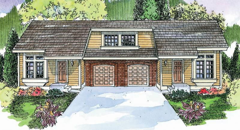 2 Bed, 1 Bath, 1086 Square Foot House Plan - #035-00488