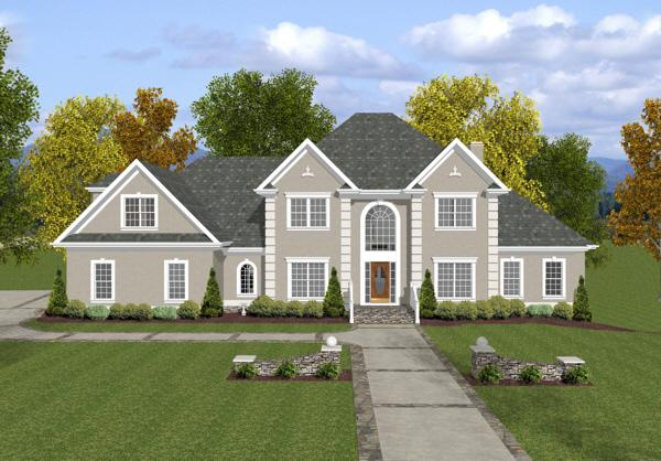 4 Bed, 4 Bath, 3271 Square Foot House Plan - #036-00148