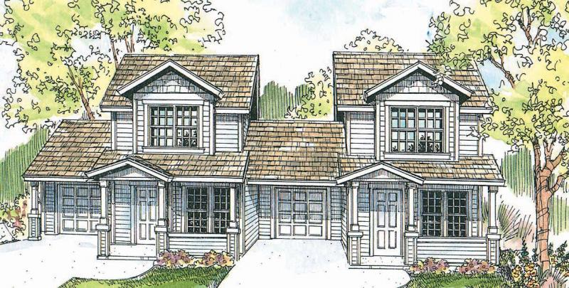 2 Bed, 1 Bath, 926 Square Foot House Plan - #035-00491