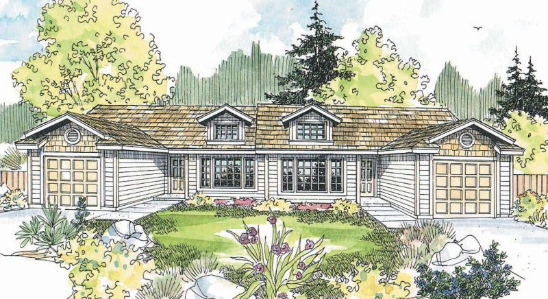 2 Bed, 1 Bath, 934 Square Foot House Plan - #035-00492