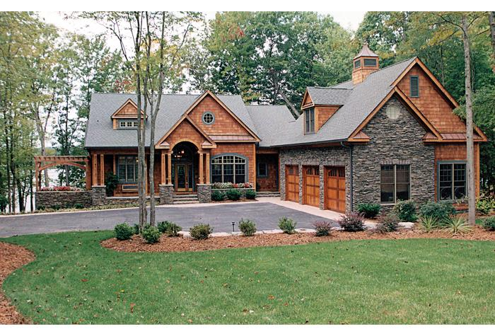 lake front plan: 4,304 square feet, 4 bedrooms, 4.5 bathrooms