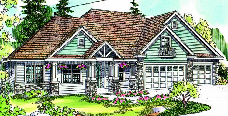 3 Bed, 3 Bath, 3439 Square Foot House Plan - #035-00355