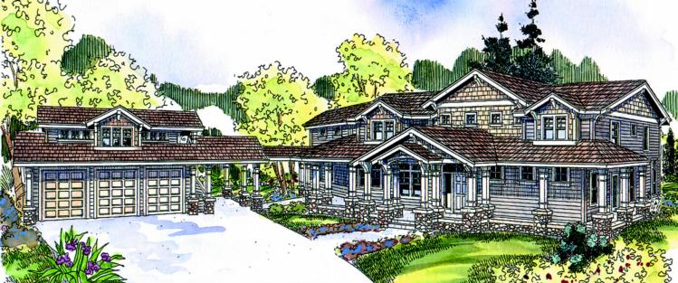 4 Bed, 3 Bath, 5222 Square Foot House Plan - #035-00356