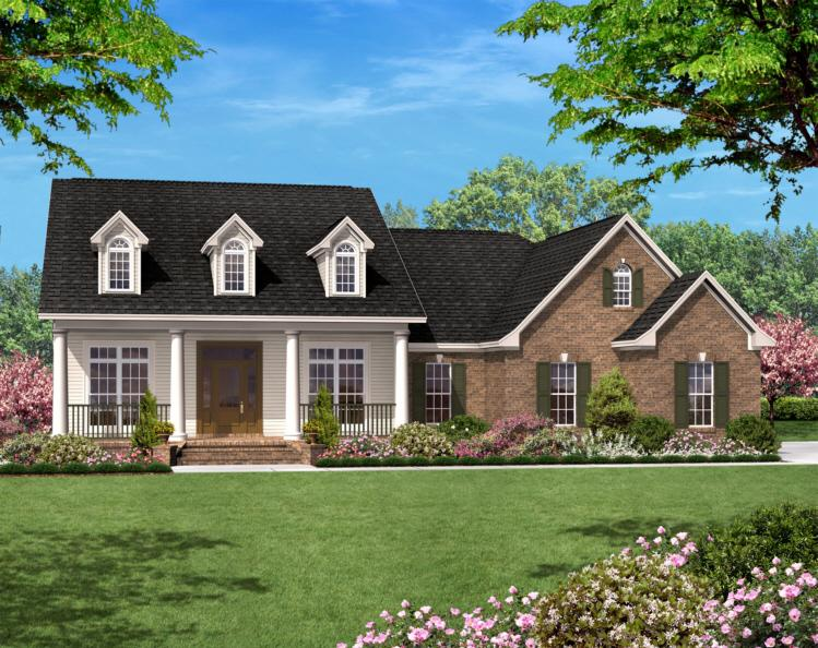3 Bed, 2 Bath, 1500 Square Foot House Plan - #041-00007