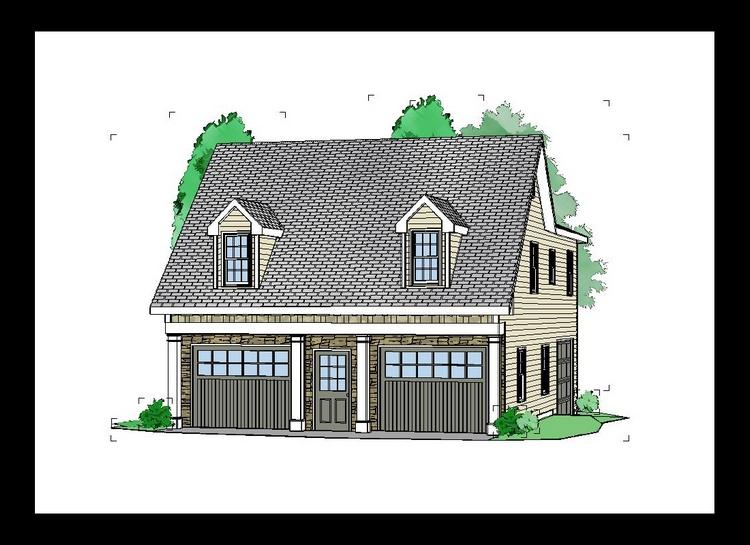 2 Bed, 1 Bath, 1208 Square Foot House Plan - #957-00038