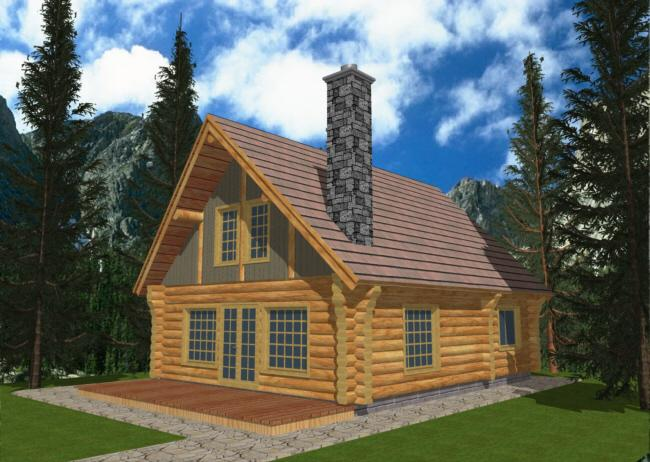 Cabin Plan 1040 Square Feet 1 Bedroom Bathroom