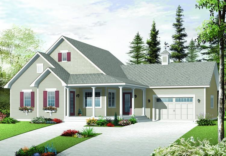 Lake front plan 1 375 square feet 2 bedrooms 2 for 2 bedroom lake house plans