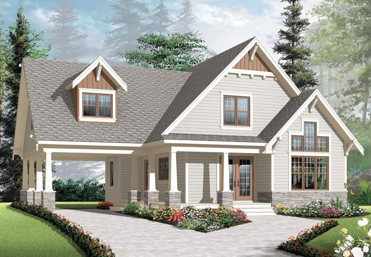Country plan 1 348 square feet 3 4 bedrooms 2 bathrooms for American craftsman house plans