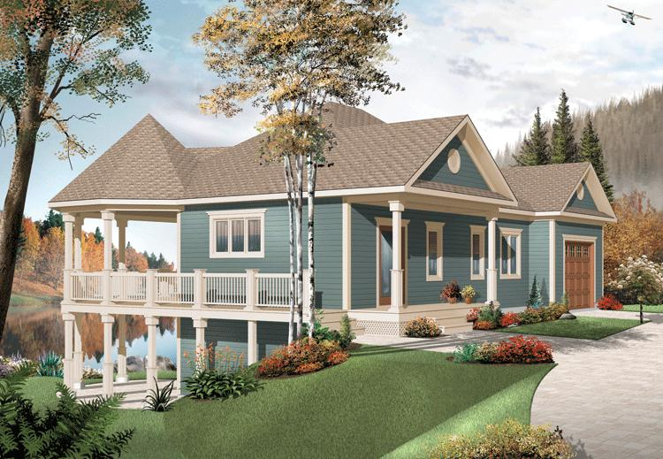 Country plan 2 072 square feet 3 bedrooms 2 bathrooms for Water view home plans