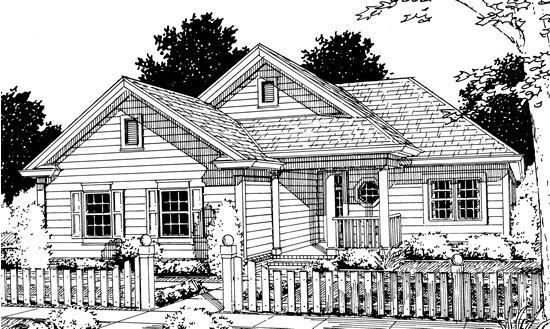 2 Bed, 2 Bath, 1134 Square Foot House Plan - #4848-00225