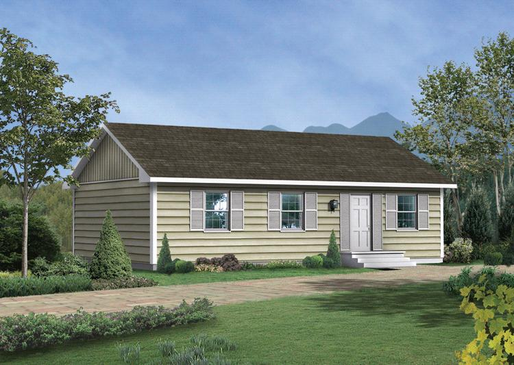 Narrow lot plan 1 000 square feet 3 bedrooms 1 bathroom for 1000 square feet house
