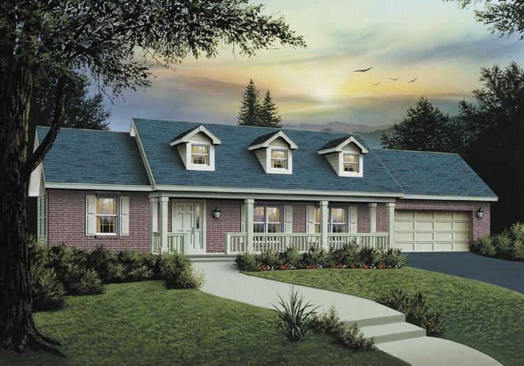 Farmhouse Plan: 1,400 Square Feet, 3 Bedrooms, 2 Bathrooms - 5633-00022