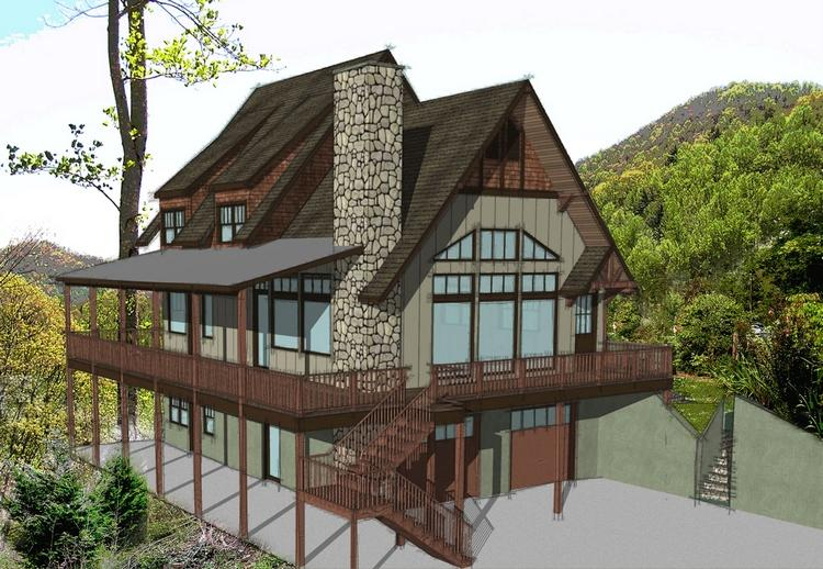 Lake front plan 1 793 square feet 3 bedrooms 2 for Lakeside cabin plans