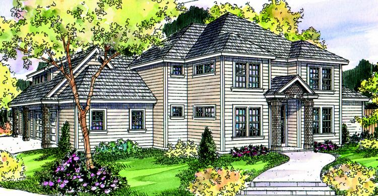 3 Bed, 2 Bath, 3309 Square Foot House Plan - #035-00381