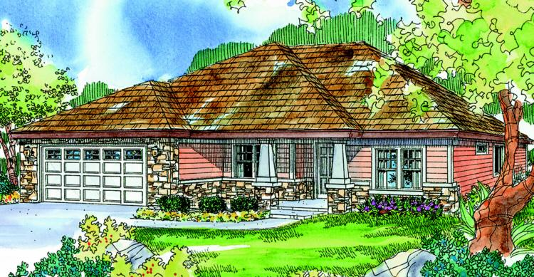 3 Bed, 2 Bath, 1908 Square Foot House Plan - #035-00386