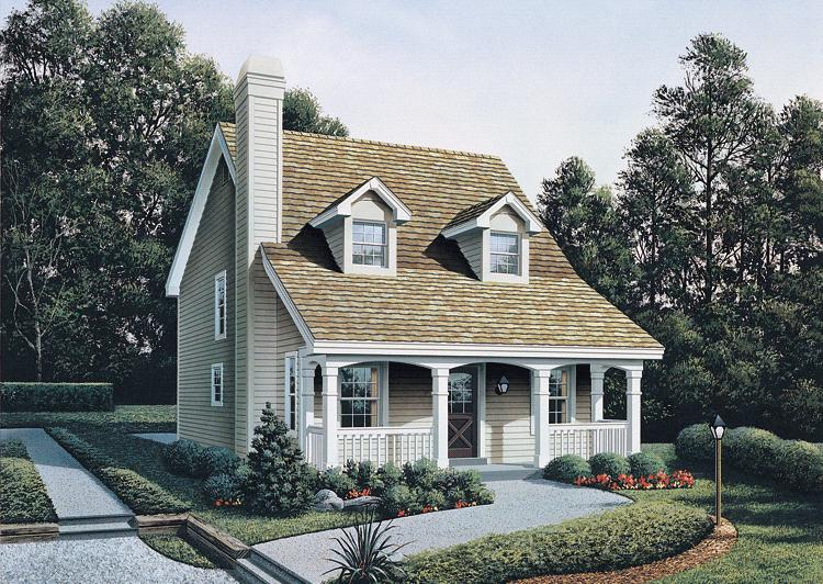 Narrow lot plan 1 299 square feet 3 bedrooms 2 5 for Small cape cod house