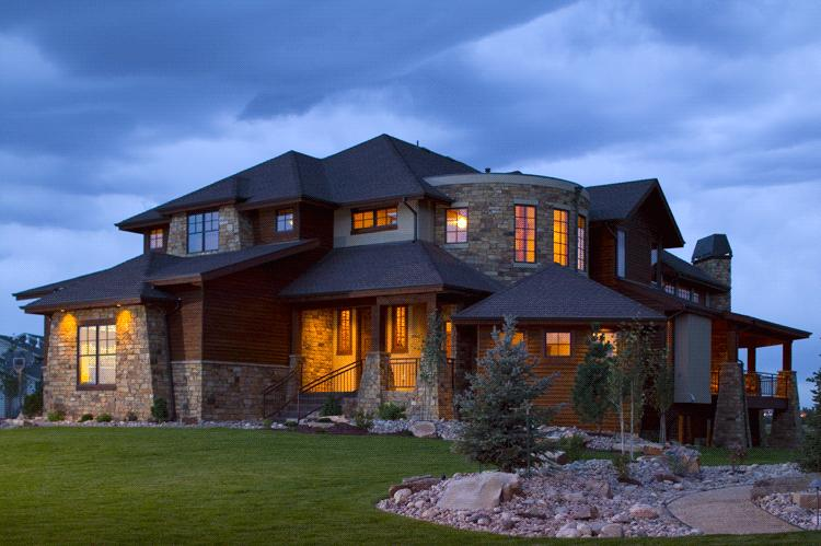 Lake front plan 6 963 square feet 5 bedrooms 5 5 for Colorado style home plans