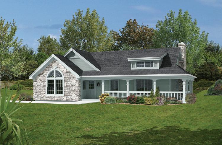 2 Bedroom Farmhouse House Plans