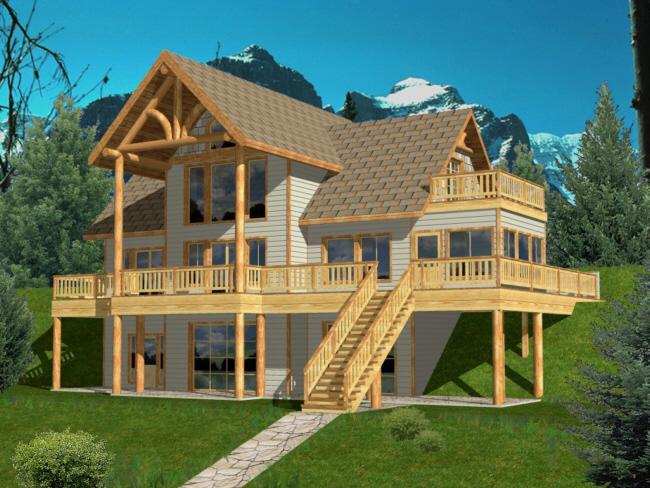Lake front plan 2 272 square feet 3 bedrooms 3 5 for Lake house plans with garage