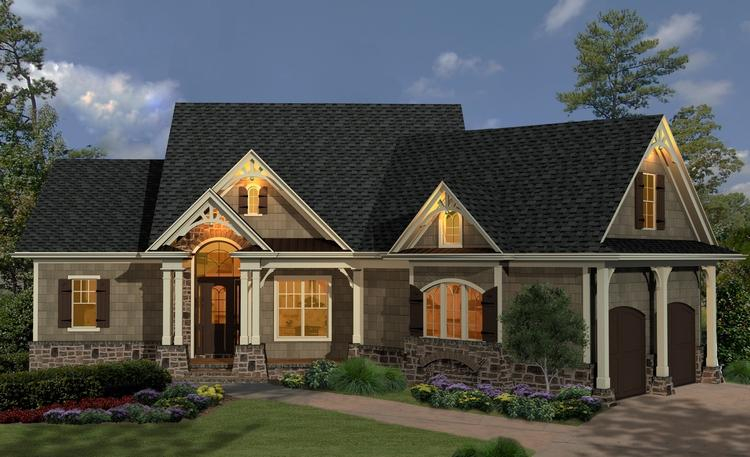 Mountain plan 1 729 square feet 3 bedrooms 2 bathrooms for Small craftsman house plans with garage