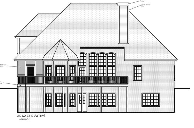 Basement  House Plan #036-00102 Elevation Photo