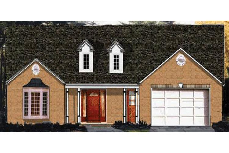 3 Bed, 2 Bath, 1528 Square Foot House Plan - #033-00039