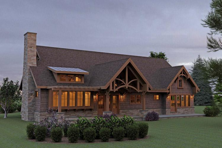 Beautiful Mountain Craftsman House Plans #8: Americas Best House Plans