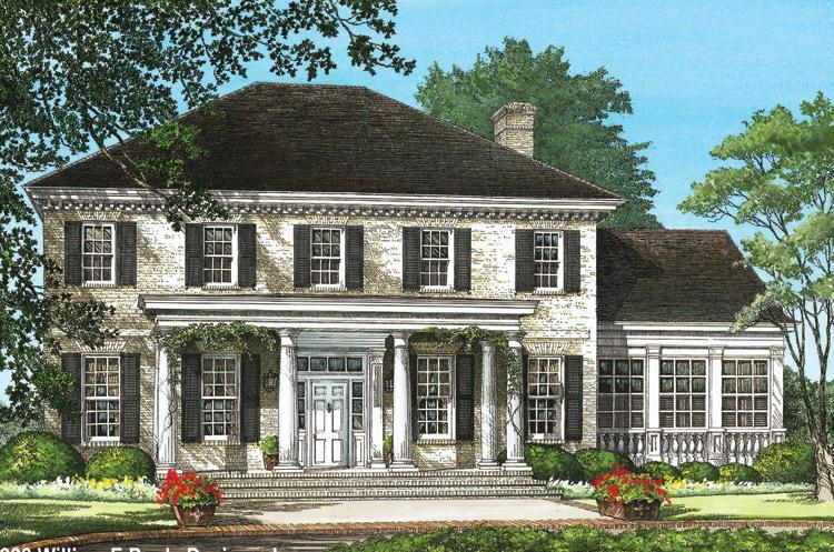 Colonial plan 3 920 square feet 4 bedrooms 3 5 for Small georgian house plans