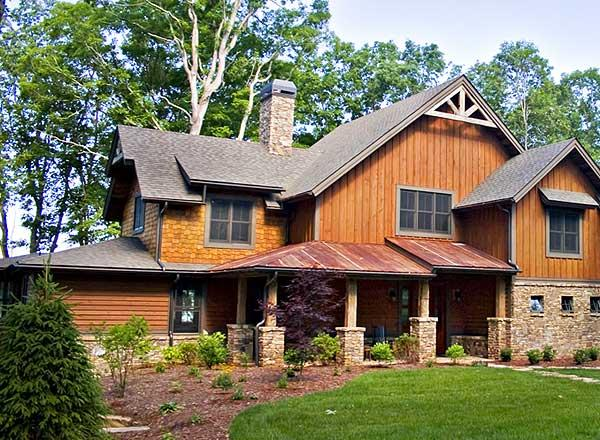 Cabin plan 2 632 square feet 3 bedrooms 2 5 bathrooms for Low country house plans with detached garage