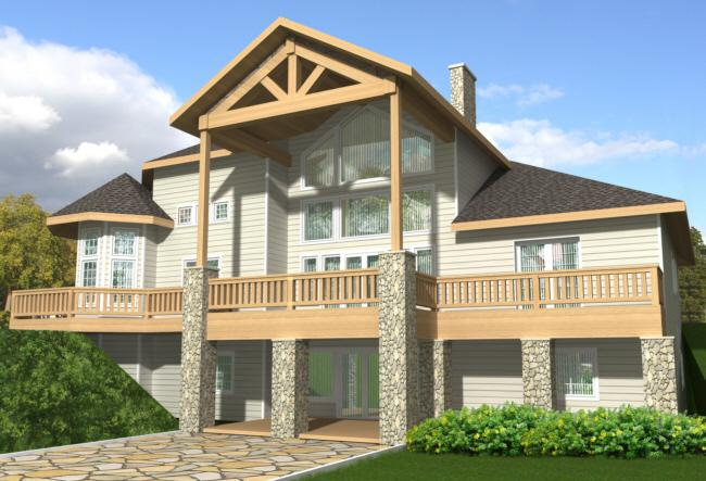 4 Bed, 4 Bath, 2875 Square Foot House Plan - #039-00209